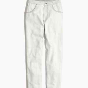 Madewell Wide Leg White Tapered Jeans